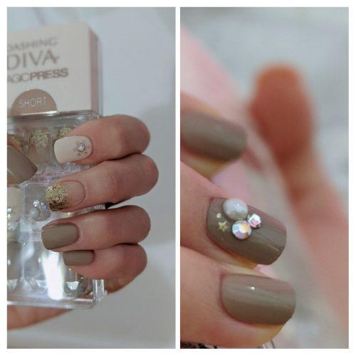 Dashing Diva Magic Press (Mani)  - MDR245SS Beige Hue (Short) photo review