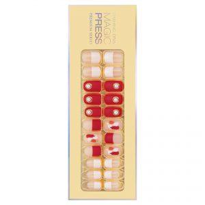 Dashing Diva Magic Press Nails (Mani) -MPR274PR Boss Red