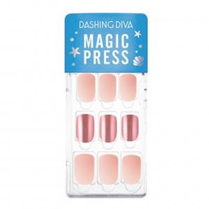 Dashing Diva Magic Press Nails (Mani) -MGL031 Milky Pink Metal