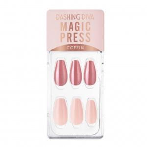 Dashing Diva Magic Press Nails (Mani) -MGL020CF Soft Pink Metal