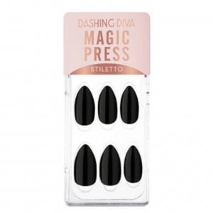 Dashing Diva Magic Press Nails (Mani) – MWK177ST Carbon Edge Black