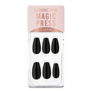Dashing Diva Magic Press Nails (Mani) -MWK179CF Carbon Chic Black